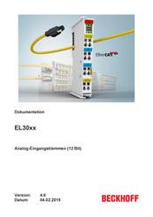 ; EtherCAT 1-Kanal-Analog-Eingangsklemme 4…20 mA BECKHOFF EL3021 12 Bit NEW