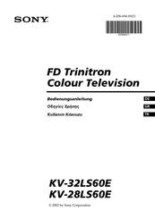 Sony Kv 32ls60e Bedienungsanleitung Pdf Herunterladen Manualslib
